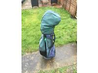 Women's golf clubs and bag
