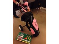 Girls Golf Kit With Trolley £95