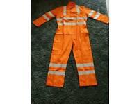 ALSICO Orange Hi Vis Proban Cotton Flame Retardant Overalls