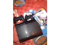 PS3(comes with 4 games and 3 controllers(2 non official ones)