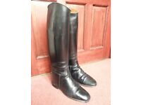 Hawkins Long Leather Riding boots. Size 5 real leather with a leather lining