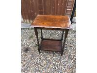 Vintage antique solid wood side table restoration shabby chic