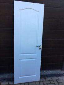 White internal wooden door