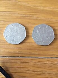 2x VC fifty pence coins (2006)