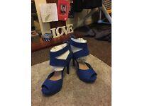 Beautiful new look cobalt blue new heels