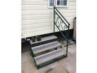 Static Caravan Steps wrought iron