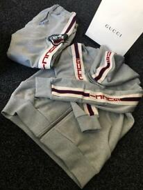 Men's Gucci striped tracksuit hoodie joggers