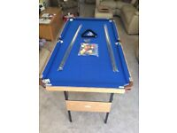 Folding 4ft 6 inch pool table & Accessories with blue cloth Brand New in Box