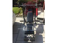 York13 in 1 bench squat stands weights and bars