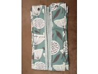 "Teal Lined Eyelet Dunelm Curtains 229cm (90"") x 183cm (72"")"