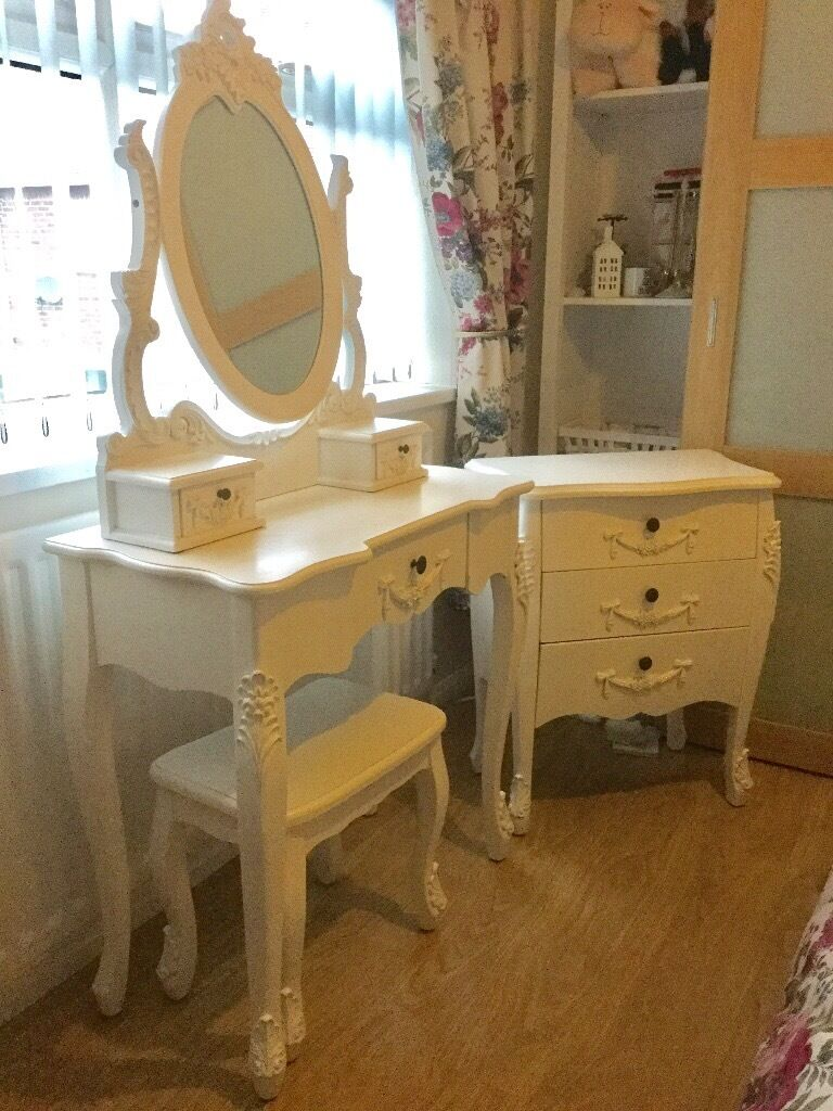 Toulouse White Bedroom Set Dunelm Dressing Table And Drawer - Toulouse bedroom furniture white