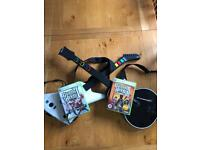 Xbox 360 Guitar Hero bundle & Rocksmith guitar tutor.