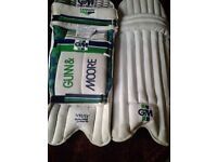GUNN AND MOORE CRICKET PADS.