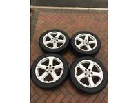 "VW T5 18"" Alloy Wheels with Tyres also fits BMW,"