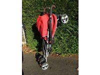 Umbrella fold stroller / pushchair - lies flat suitable for newborn - Maclaren type buggy