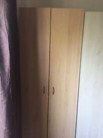 2 doors wardrobe in very good condition
