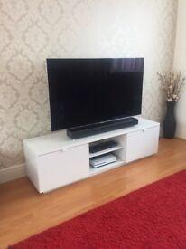 Ikea White Gloss TV Cabinet