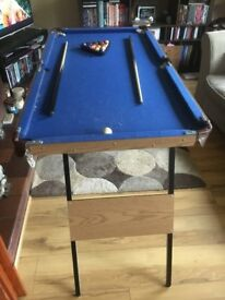 Folding snooker table in excellent condition