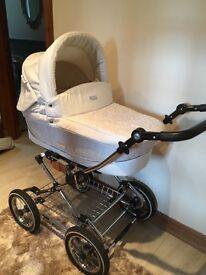 Beautiful Cream Babystyle Pram & matching Car Seat