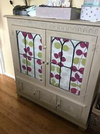 Old charm display cabinet Annie Sloan country grey