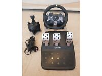 Logitech G920 Gaming Racing Steering Wheel with Gear Shifter and Pedals for Xbox One
