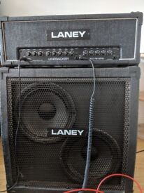 Laney Backliner Reverb 100 Head and Cab Amp Stack