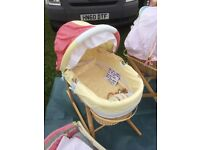 MAMAS & PAPAS GINGERBREAD MAN,MOSES BASKET COT BED DUVET, TOY,MUSICAL MOBILE & ACTIVITY PLAYMAT