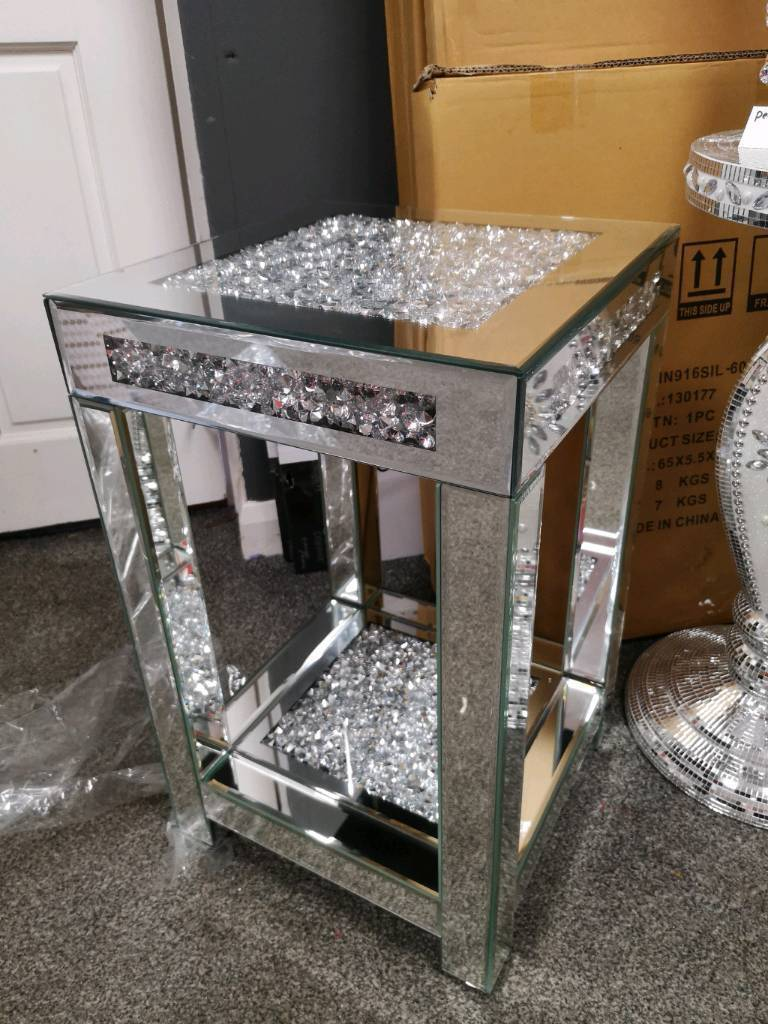 Crushed Diamond Mirror Furniture Bling In Coxhoe County Durham