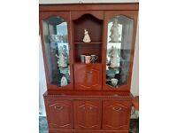 Display cabinet with interior lights