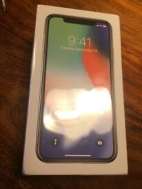 iPhone X brand new 64 gig silver