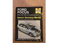 Haynes Manuel Ford Focus 2005 to 2011 petrol