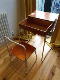 Child's Retro Foldable Desk and Chair