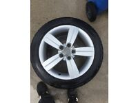 "Audi 17"" alloy wheels tt 5x112 vw"