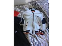 Hugo boss grey hoodie jacket