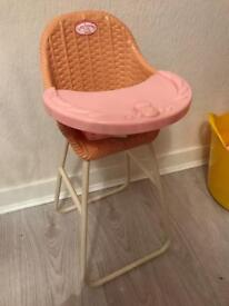 Baby Anabell high chair