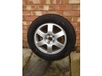Audi A3 alloy wheel with tyre