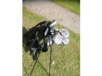 Black Golf Master Stand bag with set of Clubs