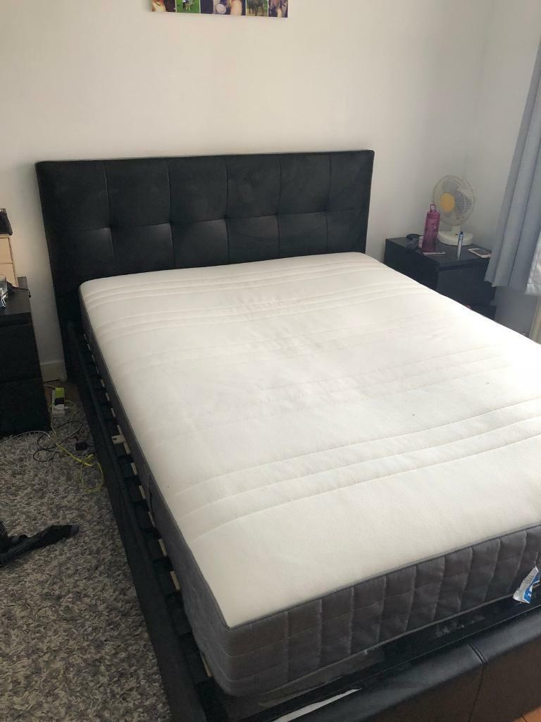 King size bed frame and mattress for sale   in Surbiton, London ...