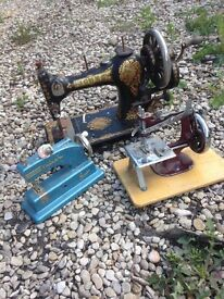 3 old sewing machine for collector s need cleaning I adult and two children's