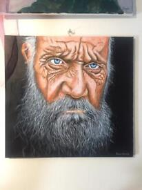Old Man Original Art