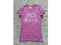 Jack Wills Ladies T-Shirt Size 8 Excellent Condition