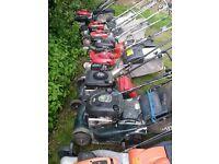 Lawnmower selection