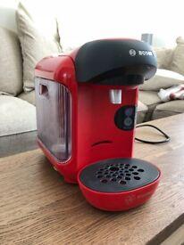 Bosch Tassimo Vivy Coffee Machine, 1300 Watt, 0.7 Litre - Red