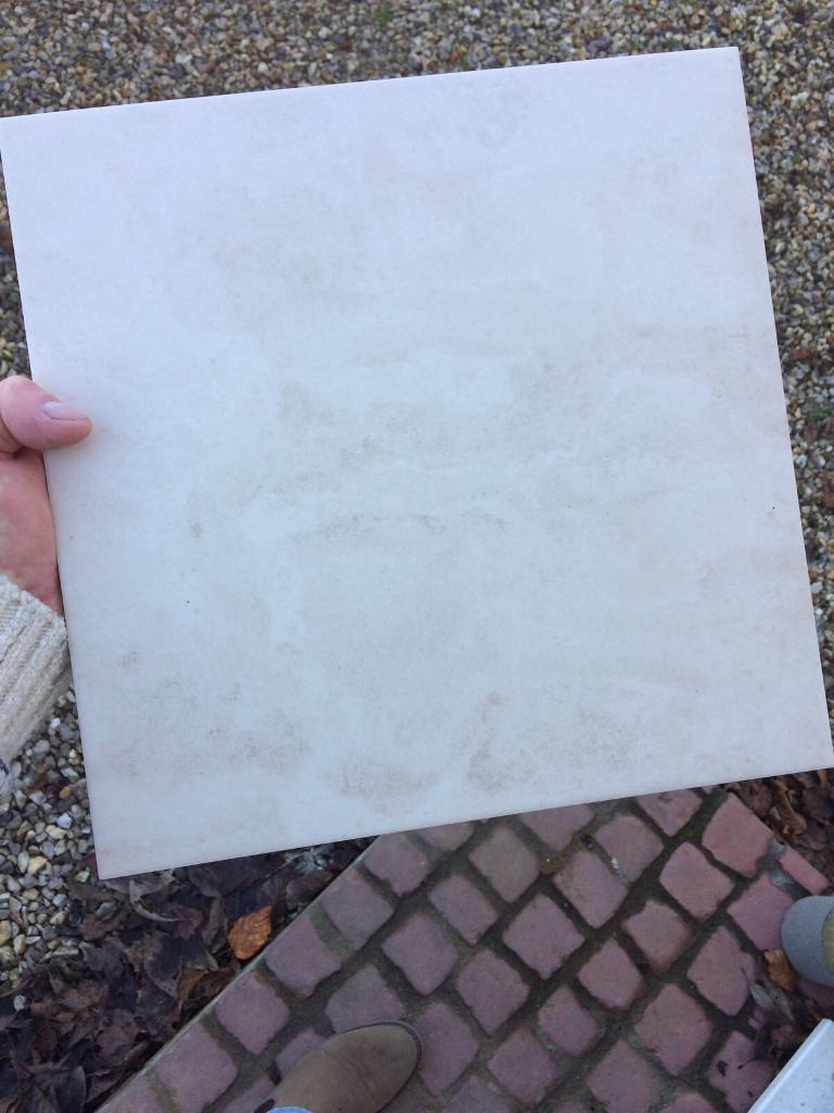 Floor tiles, glazed ceramic brand new still in boxes (beige/ marble
