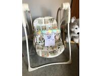 New Graco baby delight recline swing chair