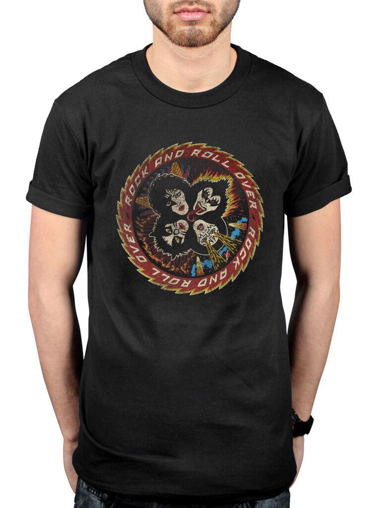 Official Kiss Paul Stanley T-Shirt Gene Destroyer Love Gun Neon Band Uncle Sam