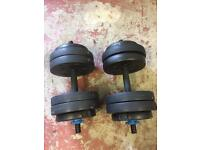 Weight training dumbells