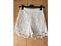 Cream Lace Shorts - Hollister