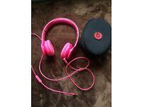 Pink Solo2 beats headphones
