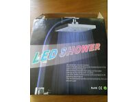 LED Square Colour Changing Shower Head